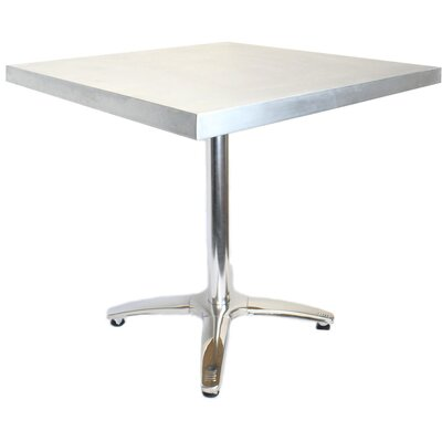 36L X 24W Cafe Table Top Finish: Zinc
