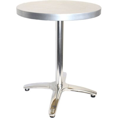 30 in. Round Dining Table Top Finish: Zinc