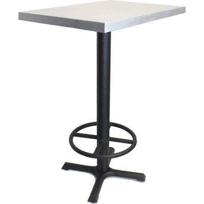 24 x 30 Pub Table Finish: Zinc