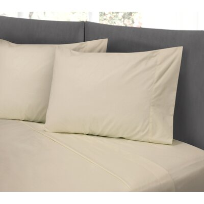Lula Cotton Rich Wrinkle Free 200 Thread Count Sheet Set Size: Twin, Color: Linen