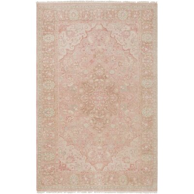 Palermo Hand-Knotted Beige Area Rug Rug Size: Rectangle 56 x 86