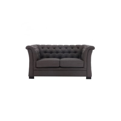 Cargan Loveseat Upholstery: Charcoal Gray