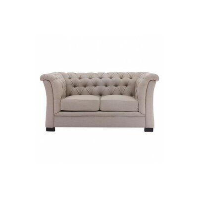Broncho Chesterfield Loveseat Upholstery: Beige