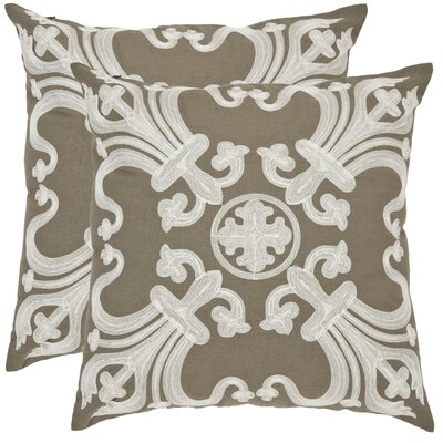 Goodrum Cotton Throw Pillow Size: 22 H x 22 W x 2.5 D, Color: Olive