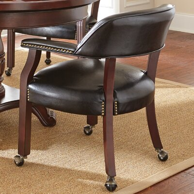 Mcbride Arm Chair Arm Chair Upholstery: Black