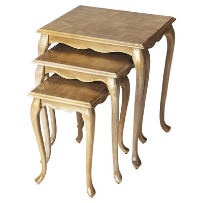 Abbey 3 Piece Nesting Tables Finish: Driftwood