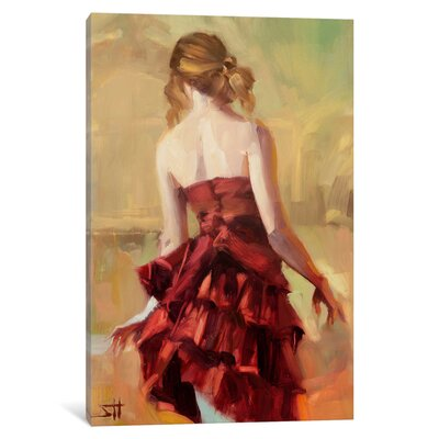 Girl in A Copper Dress by Steve Henderson Original Painting on Canvas