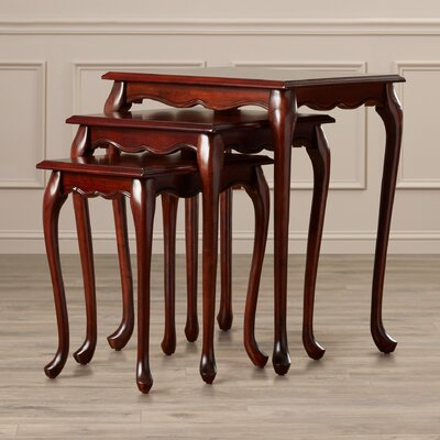 Abbey 3 Piece Nesting Tables Finish: Plantation Cherry