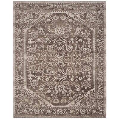 Salisbury Brown/Ivory Area Rug Rug Size: Rectangle 8 x 10