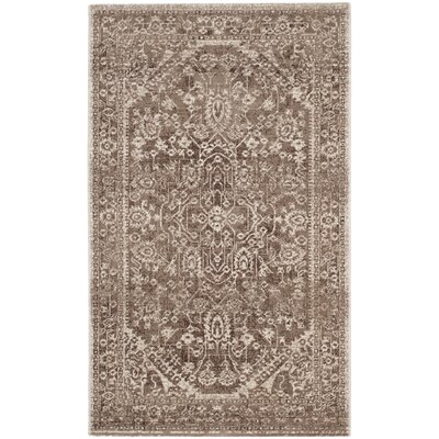 Salisbury Brown/Ivory Area Rug Rug Size: Rectangle 3 x 5