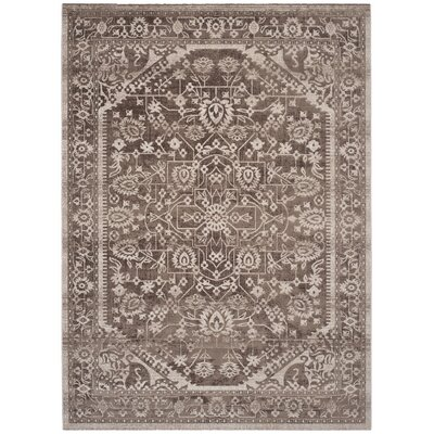 Salisbury Brown/Ivory Area Rug Rug Size: Rectangle 4 x 6