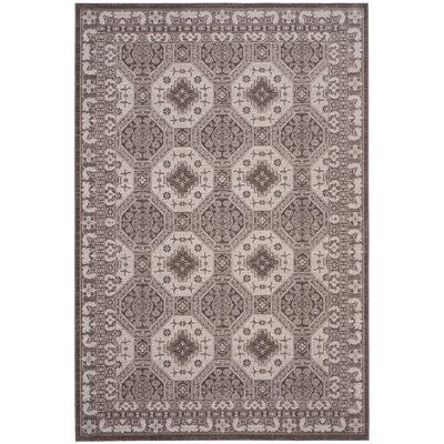 Salisbury Brown/Ivory Area Rug Rug Size: Rectangle 51 x 76