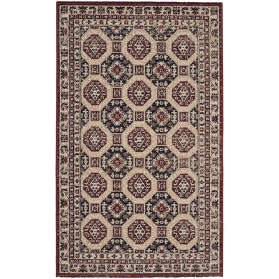 Salisbury Navy/Rust Area Rug Rug Size: Rectangle 3' x 5'