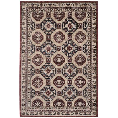 Salisbury Navy/Rust Area Rug Rug Size: Rectangle 4' x 6'
