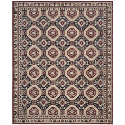 Salisbury Navy/Rust Area Rug Rug Size: Rectangle 9 x 12