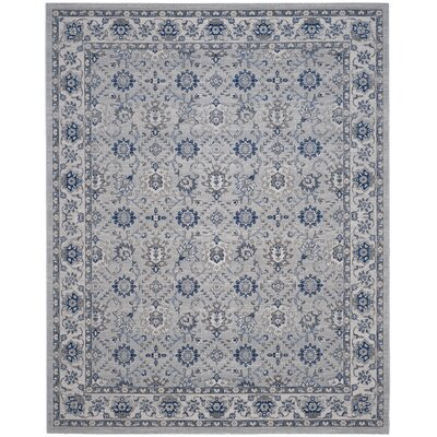 Salisbury Silver/Ivory Area Rug Rug Size: Rectangle 9 x 12