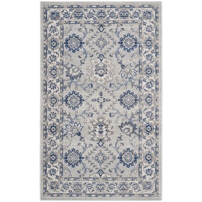 Salisbury Silver/Ivory Area Rug Rug Size: Rectangle 3 x 5