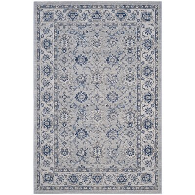 Salisbury Silver/Ivory Area Rug Rug Size: Rectangle 4 x 6