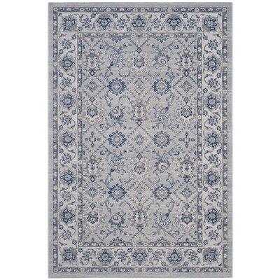 Salisbury Silver/Ivory Area Rug Rug Size: 51 x 76