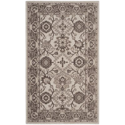 Salisbury Ivory/Brown Area Rug Rug Size: Rectangle 4 x 6