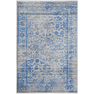 Sebring Gray/Blue Area Rug Rug Size: 11 x 15