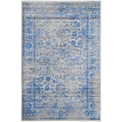 Sebring Gray/Blue Area Rug Rug Size: 12 x 18