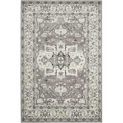Bassford Dark Grey/Light Grey Area Rug Rug Size: 51 x 76