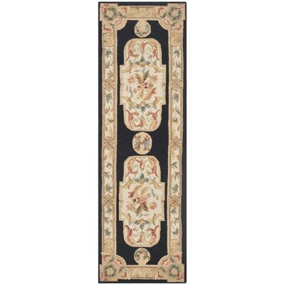 Duarte Hand-Hooked Navy/Ivory Area Rug Rug Size: Runner 26 x 10