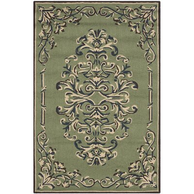 Orr Hand-Hooked Sage Area Rug Rug Size: Rectangle 8 x 10