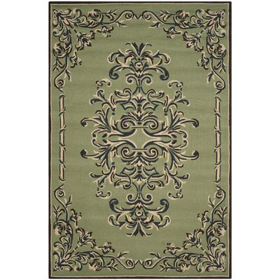 Orr Hand-Hooked Sage Area Rug Rug Size: Rectangle 2 x 3