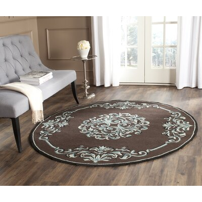 Sedgemoor Hand-Hooked Chocolate Area Rug