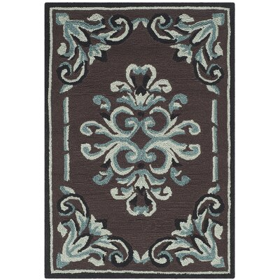 Sedgemoor Hand-Hooked Chocolate Area Rug Rug Size: Rectangle 8 x 10