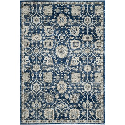 Wayne Navy/Ivory Area Rug Rug Size: Rectangle 3 x 5
