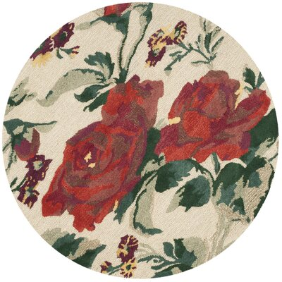 Barrington Hand-Loomed Shortbread Area Rug Rug Size: Round 4 x 4