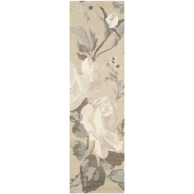 Barrington Hand-Loomed Bedford Grey Area Rug Rug Size: Runner 23 x 8