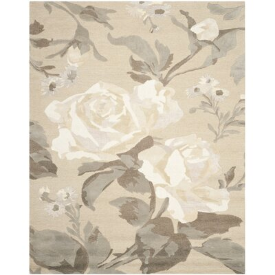 Rose Chintz Hand-Loomed Bedford Grey Area Rug Rug Size: Rectangle 9 x 12