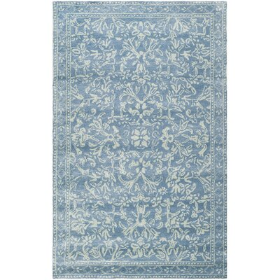 Martha Stewart Hand-Tufted Blue / Ivory Area Rug Rug Size: Rectangle 5 x 8