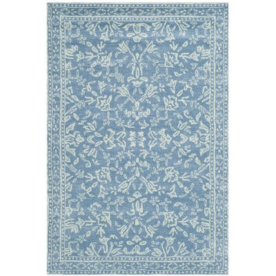 Brightmoor Hand-Tufted Blue/Ivory Area Rug Rug Size: 4 x 6