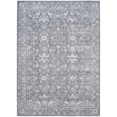 Ikin Gray/Ivory Area Rug Rug Size: 4' x 6'