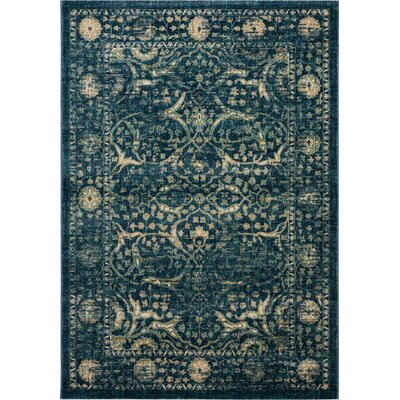 Sagebrush Navy/Beige Area Rug Rug Size: Rectangle 51 x 76