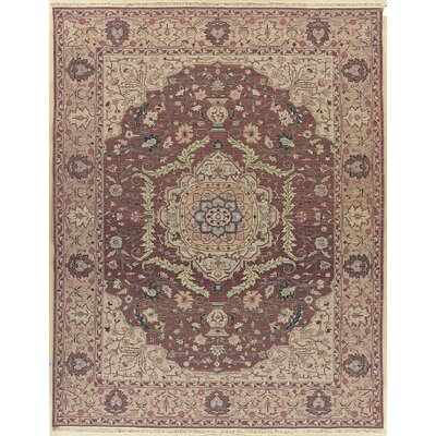 Tarkington Hand-Knotted Rose Area Rug Rug Size: Rectangle 710 x 910