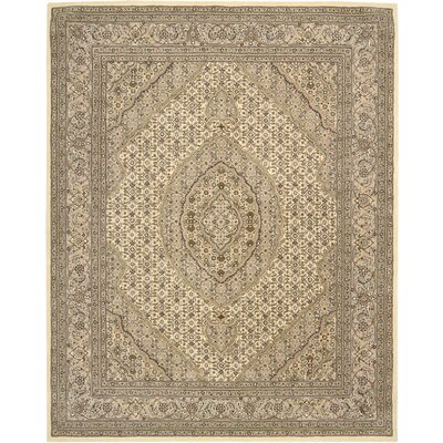 Cherrington Hand-Tufted Beige Area Rug Rug Size: Rectangle 56 x 86