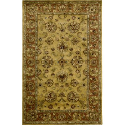 Lupton Hand-Tufted Gold Area Rug Rug Size: Rectangle 56 x 86