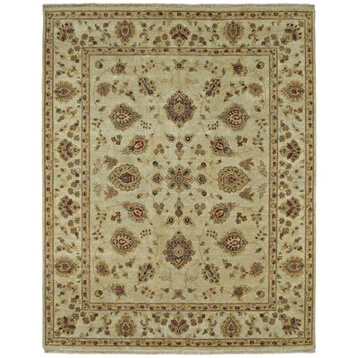 Barge Hand-Knotted Ivory Area Rug Rug Size: 6' x 9'