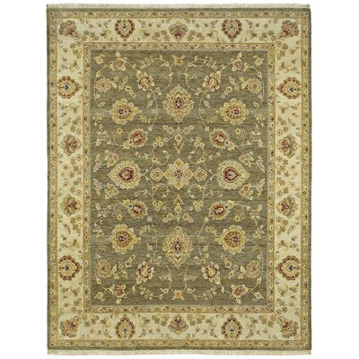 Clarkston Hand-Knotted Wool Olive Area Rug Rug Size: 9 x 12