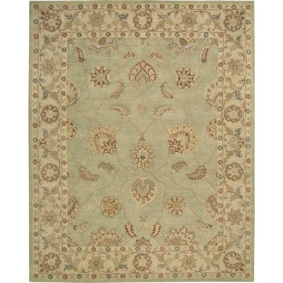 Fritsch Hand-Tufted Light Green Area Rug Rug Size: 8 x 11