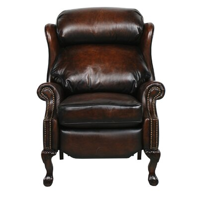 Donatella Leather Recliner Reclining Type: Power, Upholstery: Steson Coffee
