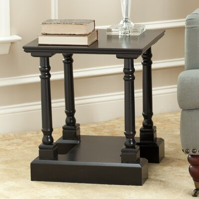 Flinders End Table Color: Distressed Black