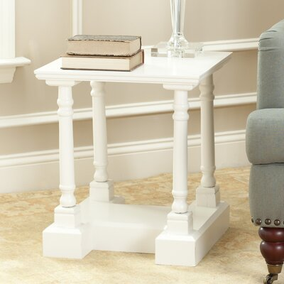 Flinders End Table Color: Distressed Cream