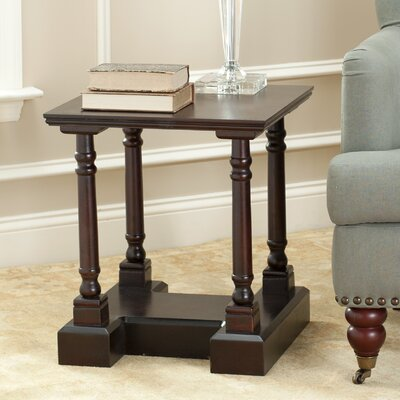 Churn End Table Finish: Dark Cherry